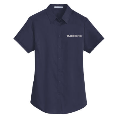 Port Authority - Ladies Short Sleeve SuperPro Twill Shirt - Embroidered Logo Thumbnail