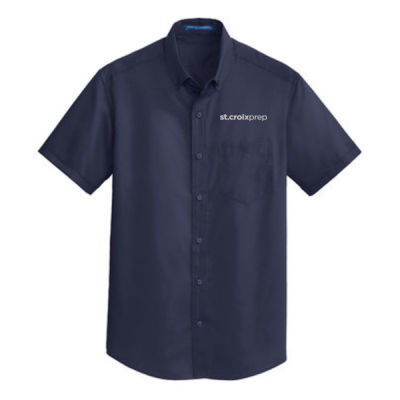 Port Authority - Short Sleeve SuperPro Twill Shirt - Embroidered Logo Thumbnail