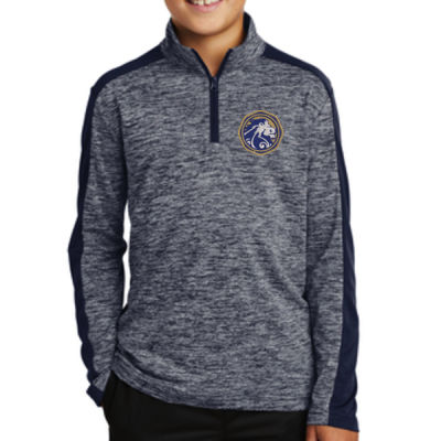 Sport-Tek - Youth PosiCharge Electric Heather 1/4 Zip - Embroidered Logo Thumbnail